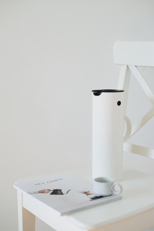 white plastic pitcher