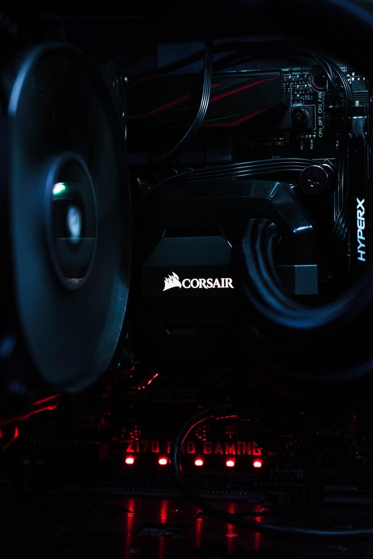 black Corsair Hyperx electronic device