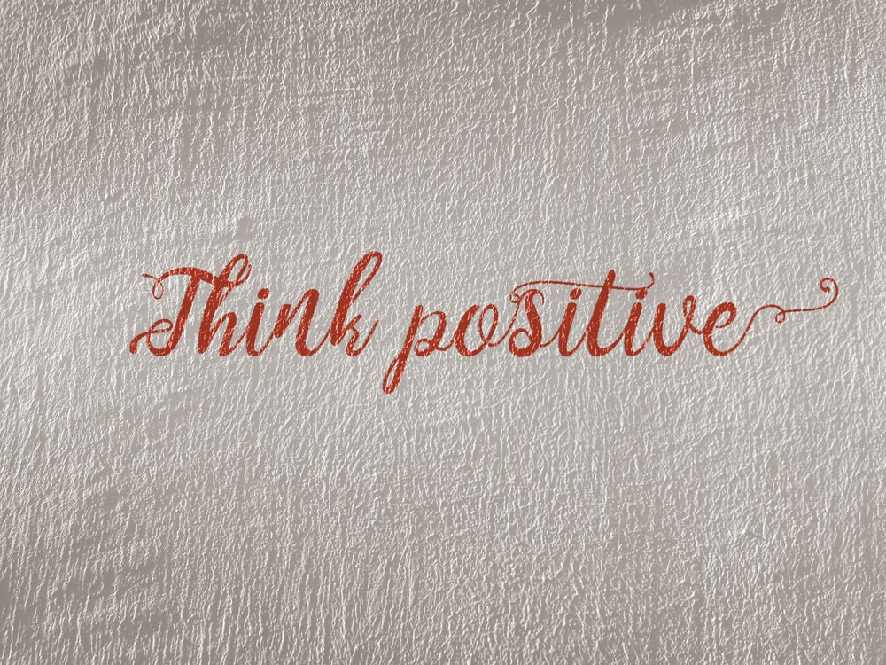 Think Positive text illustration