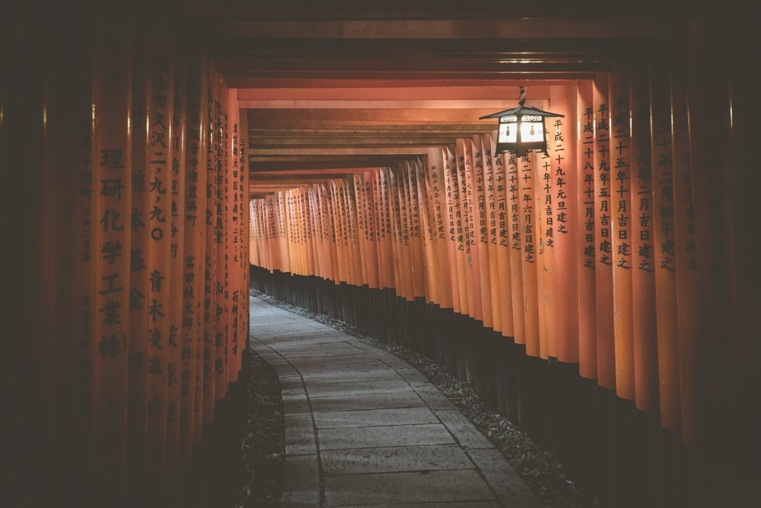 We took this photo at the famous shrine in Kyoto!  If you're new to my Unsplash account and you're curious about how we can travel around the world and record sounds full-time, just follow us here on Instagram @freetousesounds because we love to talk about it and share our journey!  If you are looking for royalty free sound recordings just visit our website www.freetousesounds.com