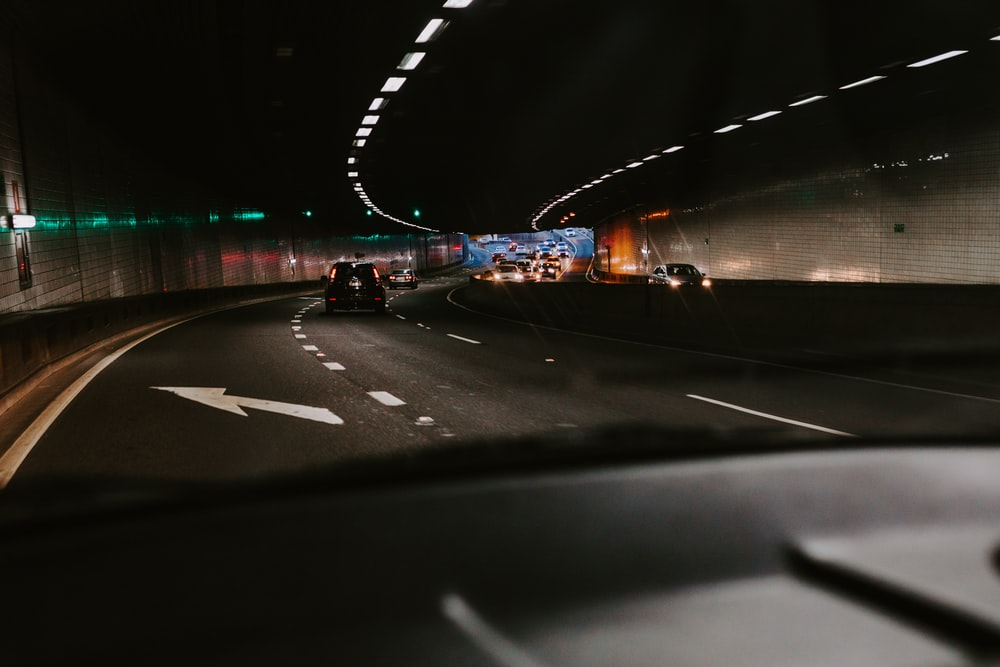 vehicle passing in tunnel