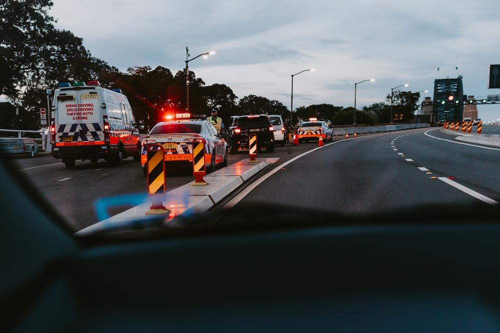 cars on roads photo