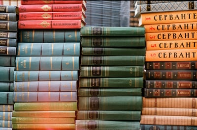 stacked books photo