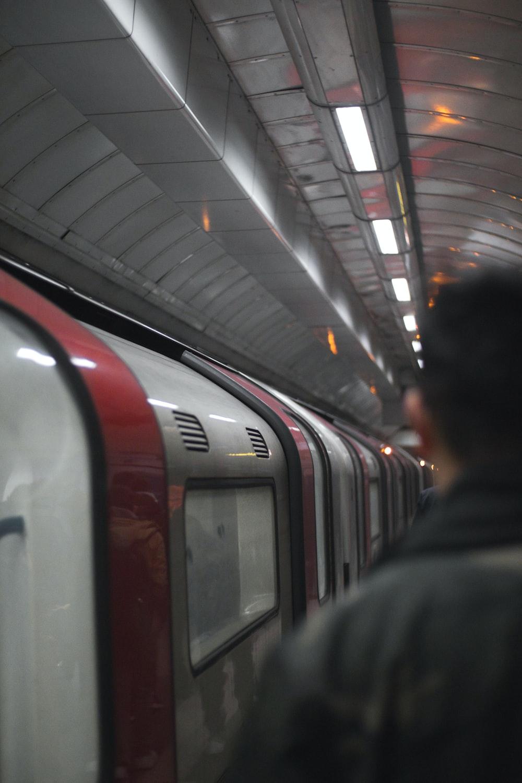 person beside train