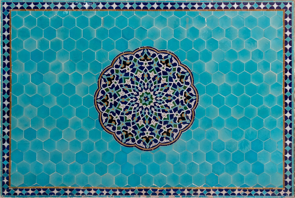 rectangular blue and gray board illustration