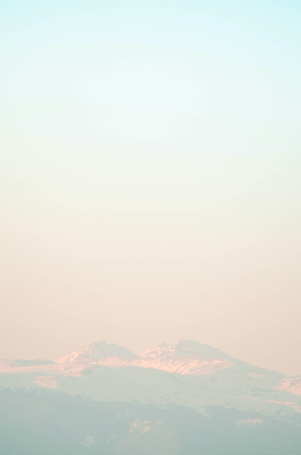 view of mountain peak