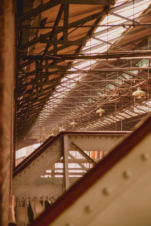 beige metal building interior
