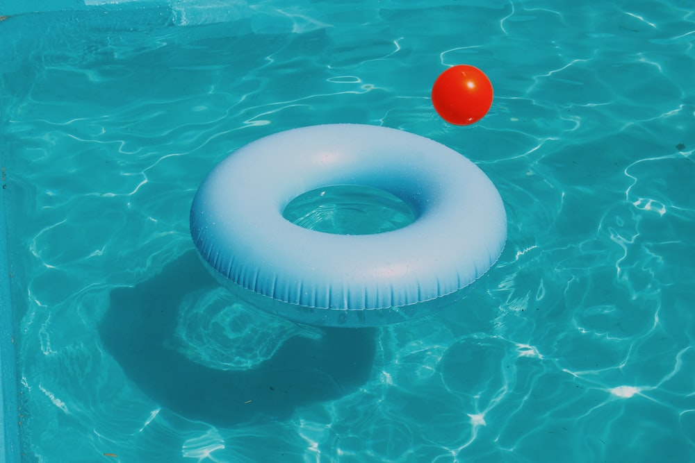 pool ring floating on water