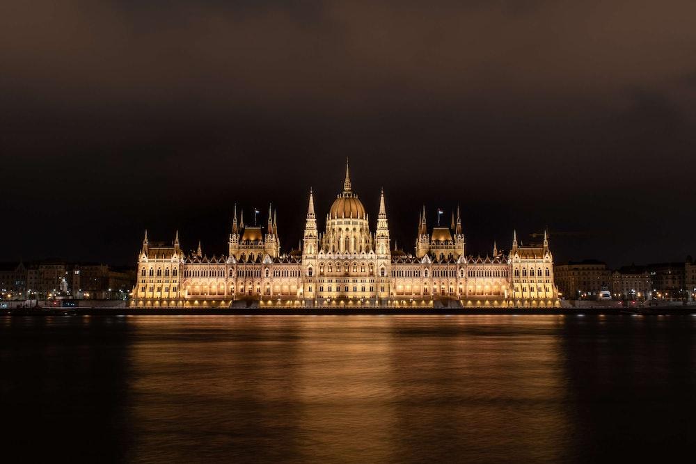 Hungarian Parliament building at night