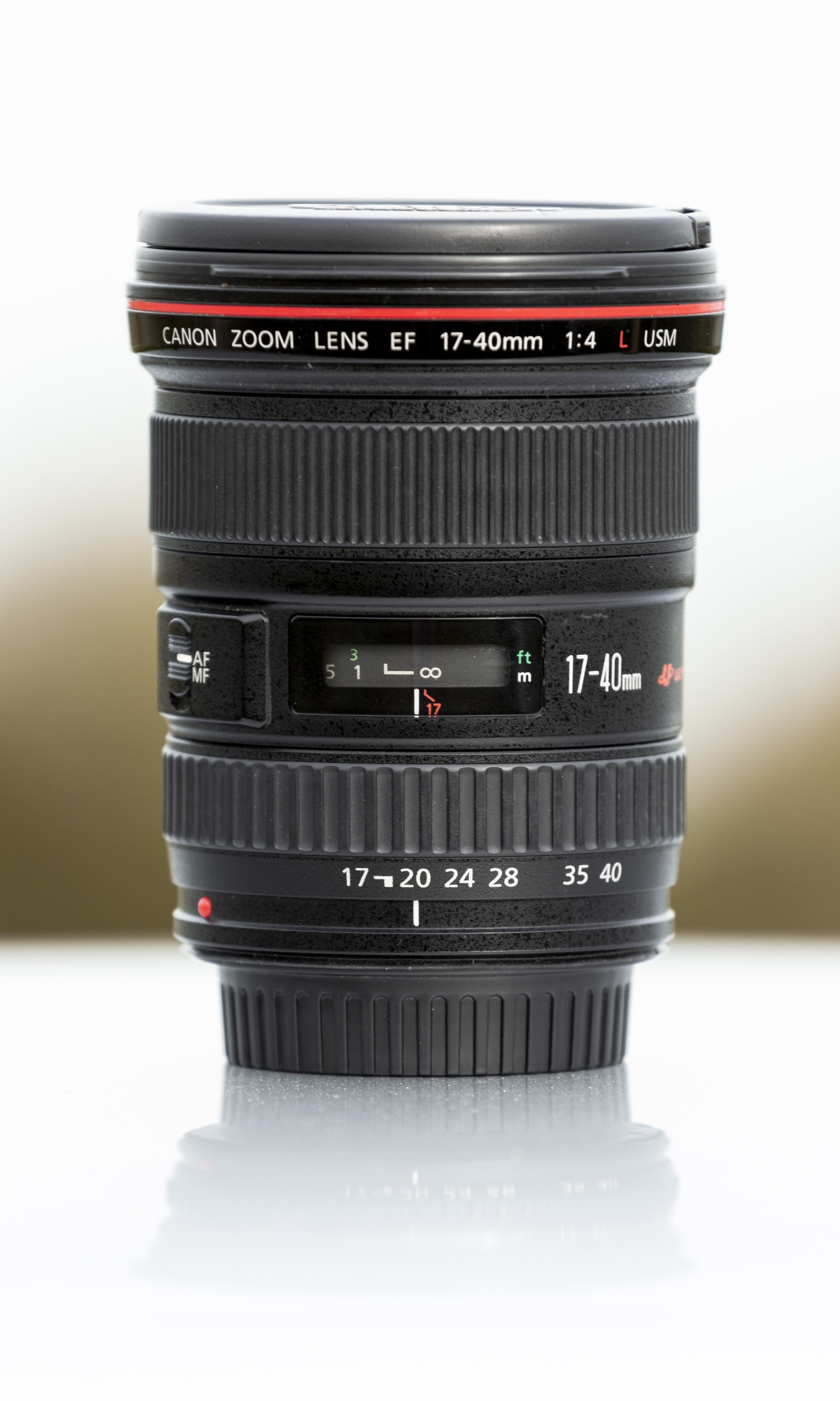 black and red camera lens