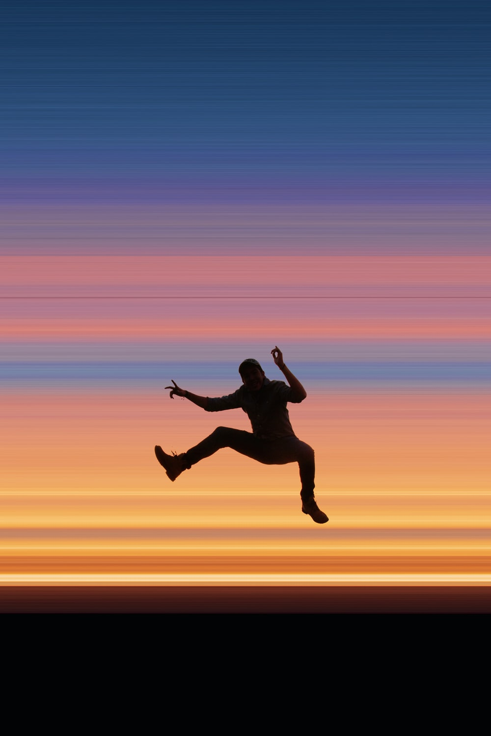 silhouette of jumper person