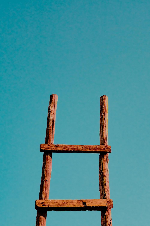 brown ladder