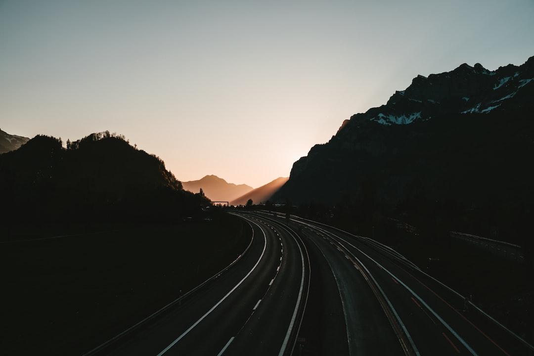 empty road during golden hour
