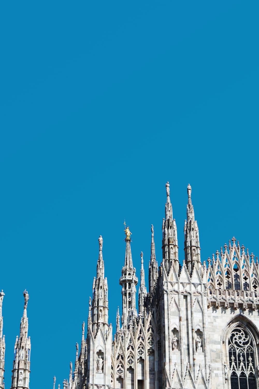 low angle photo of church