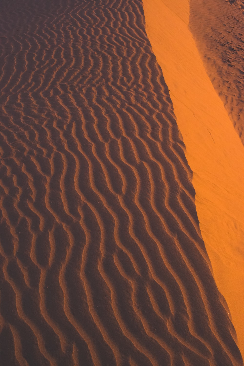 aerial photography of desert