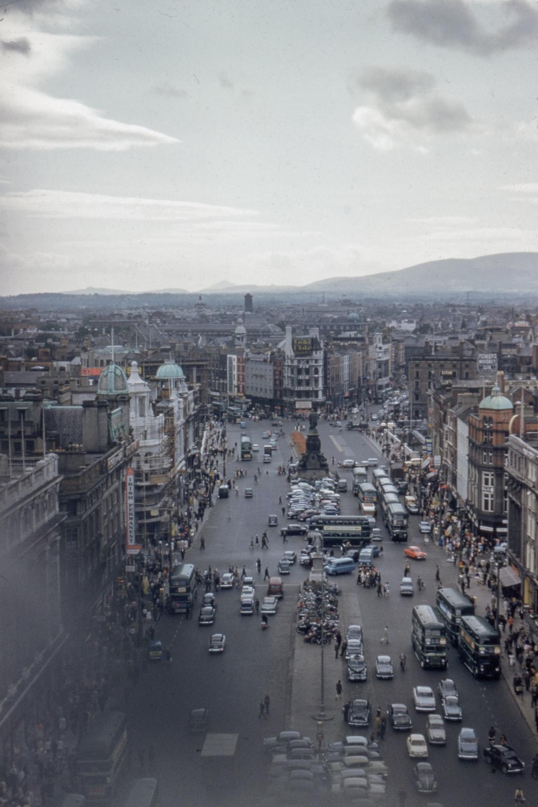 Dublin vintage city view