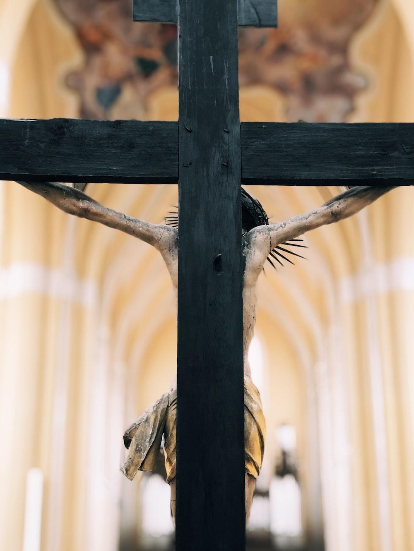Jesus Christ on cross in church