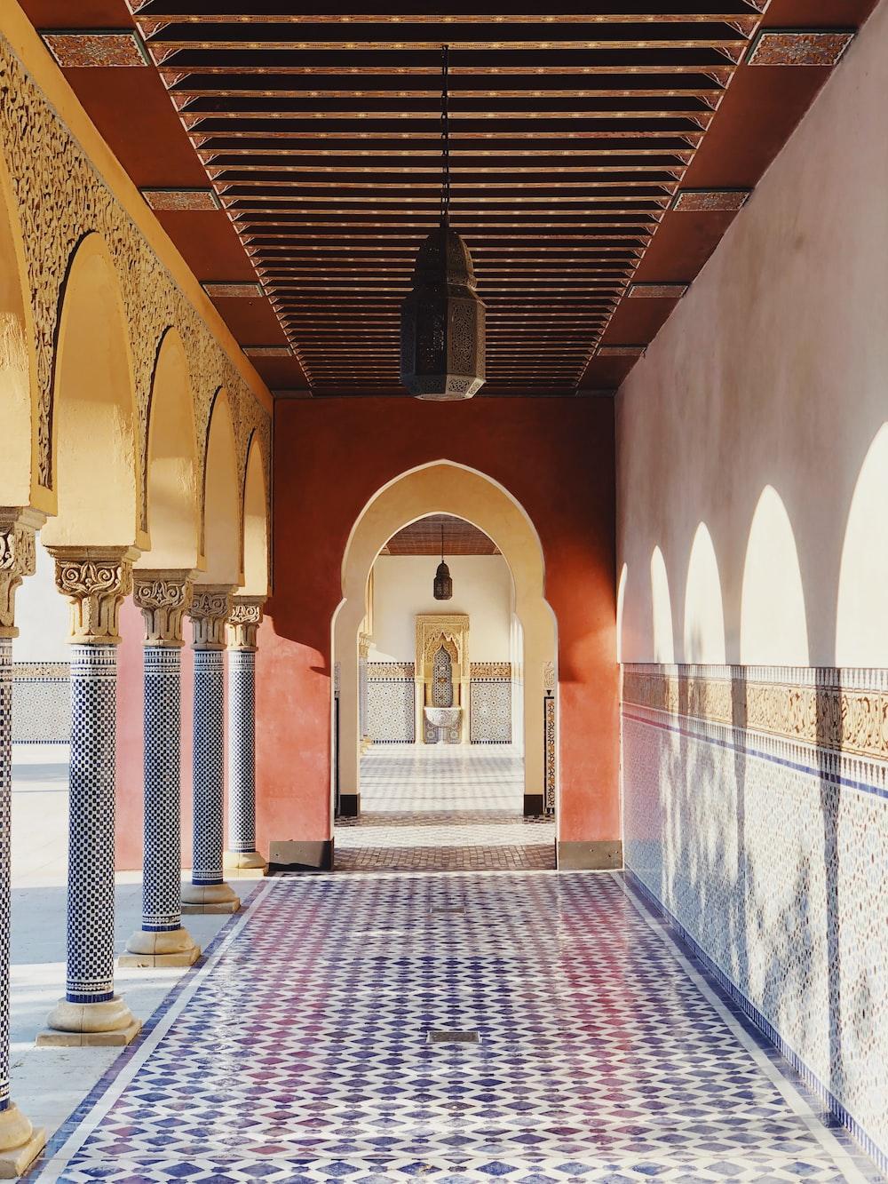 concrete hallway at daytime