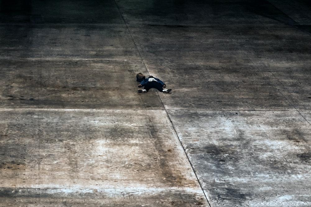 person lying on floor