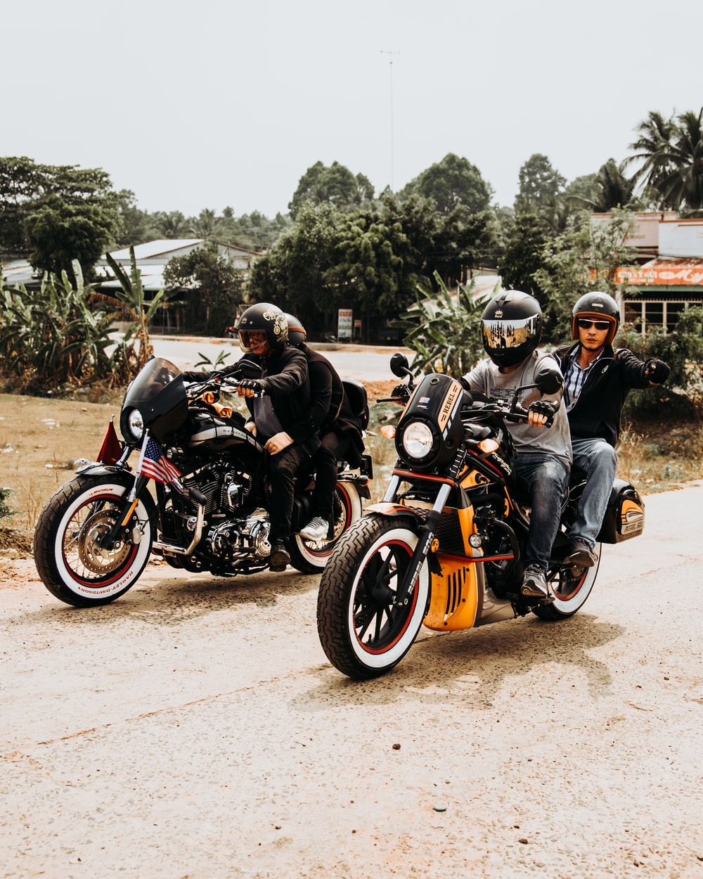 people on motorcycles