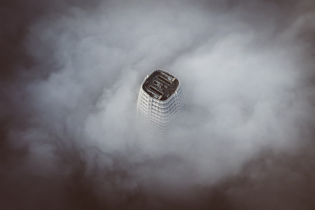 Celebrating my 200m views with the tallest building in San Francisco covered by fog.