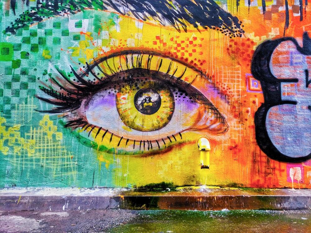 person's eye graffiti