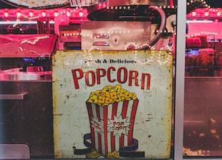 Popcorn signage