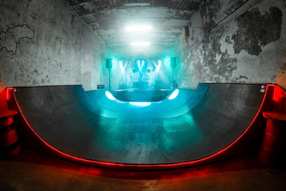 interior of skate park