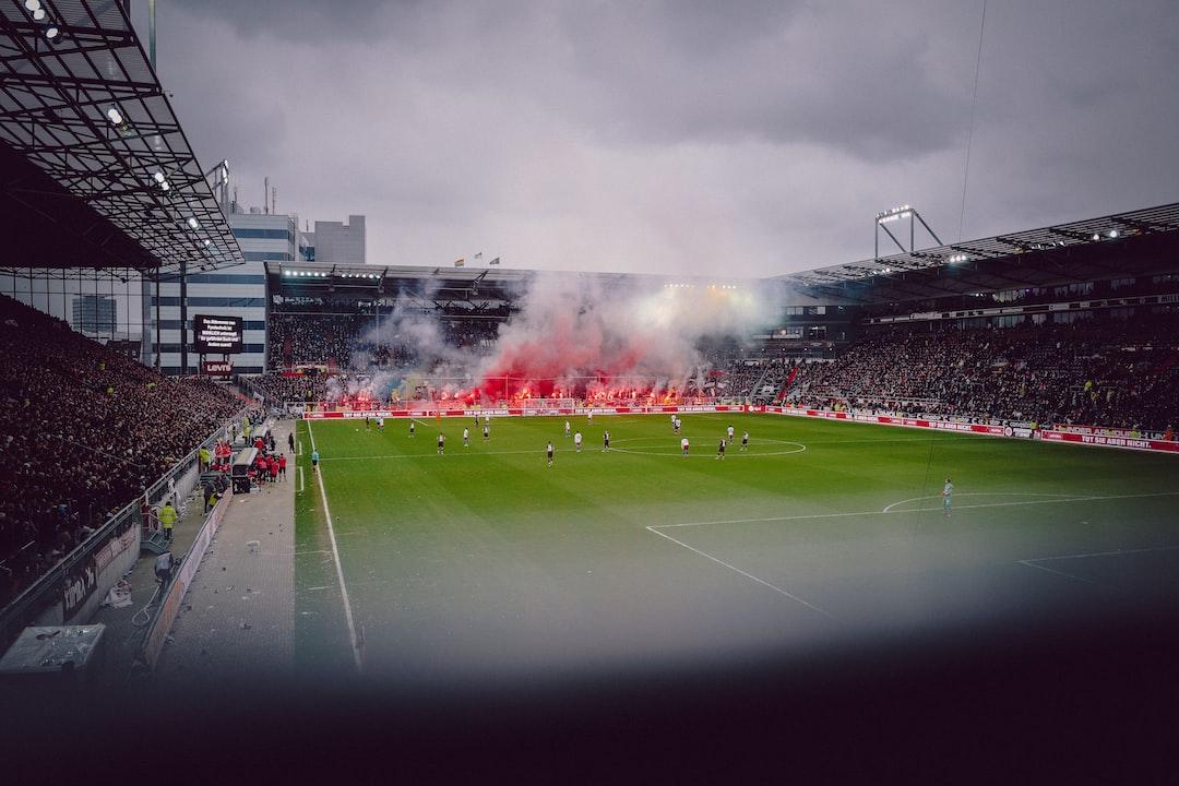 Fans of St. Pauli (Hamburg) burning pyrotechnics in the local derby against Hamburger SV.