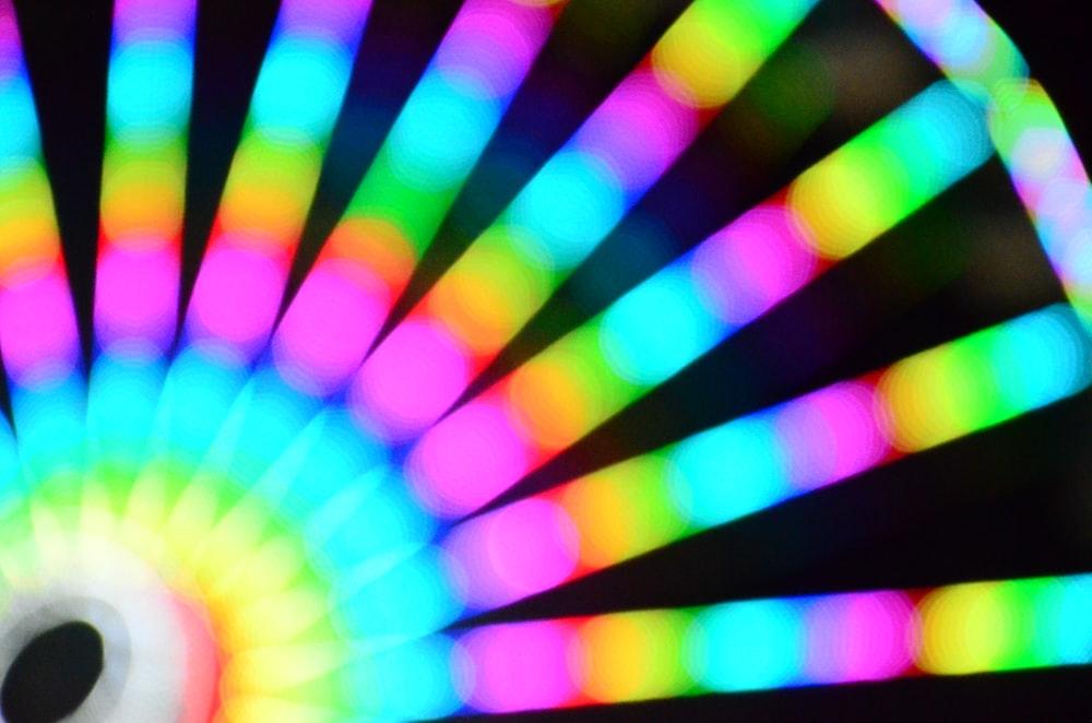multicolored LED bokeh lights