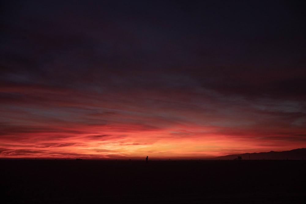 sunset on focus photography