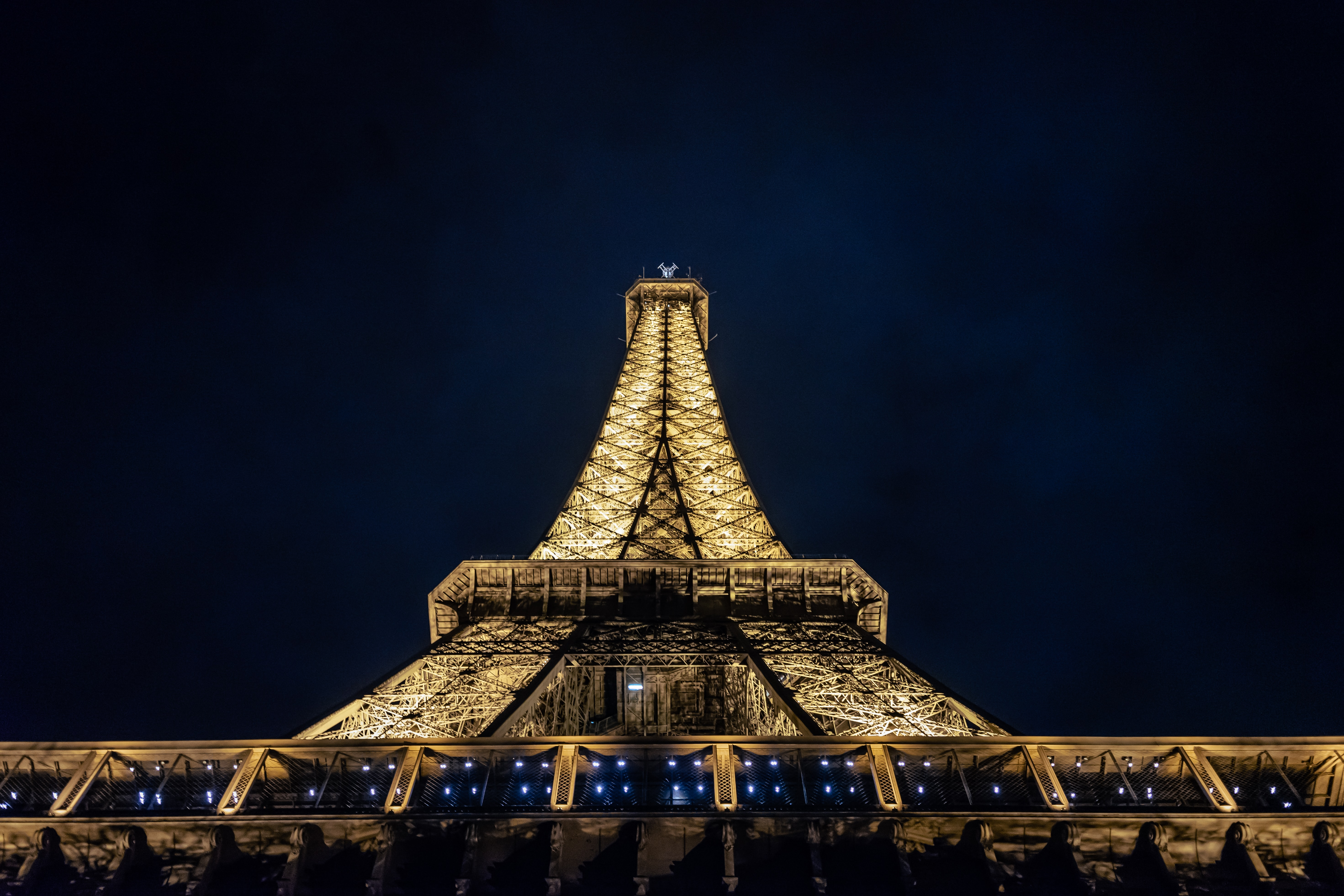 low angle photography of Eiffel tower during nighttime