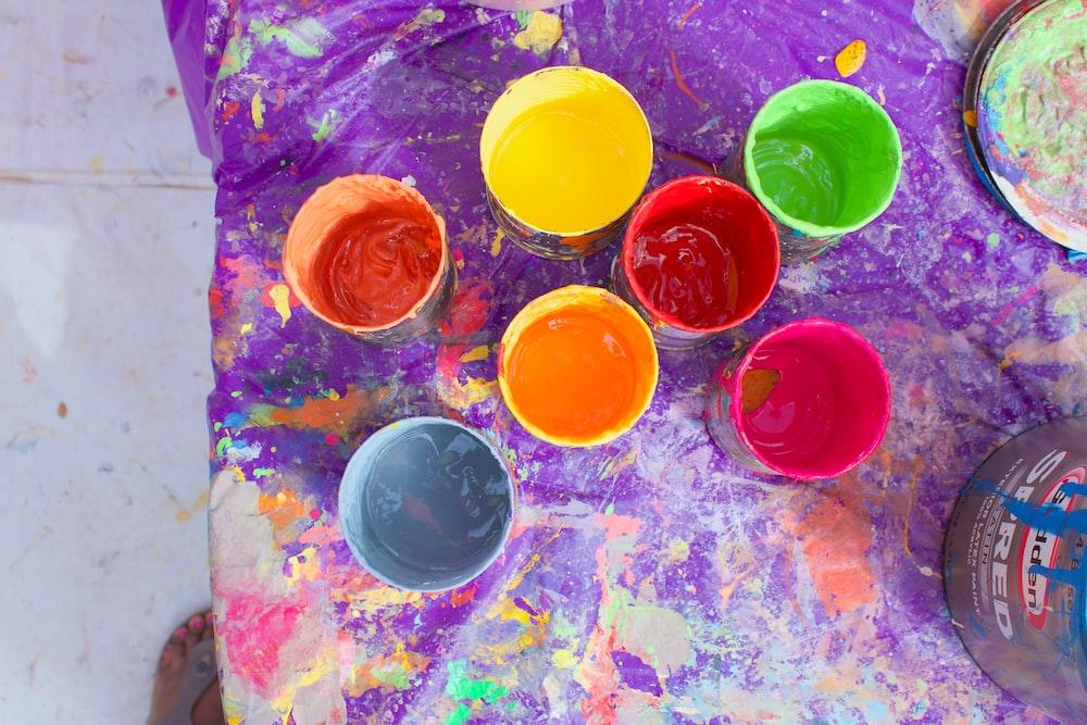 multicolored container lot