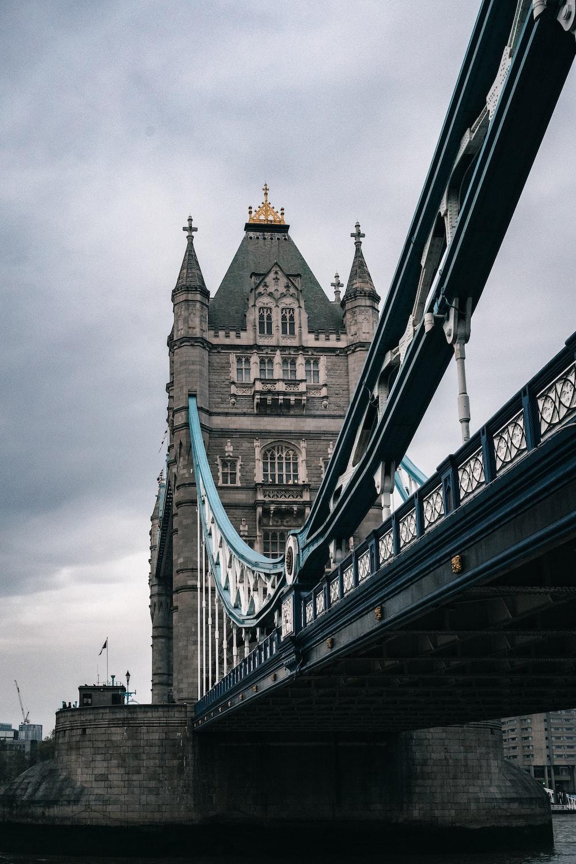 low angle photo of concrete bridge