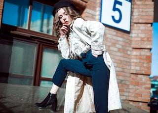 women's white jacket