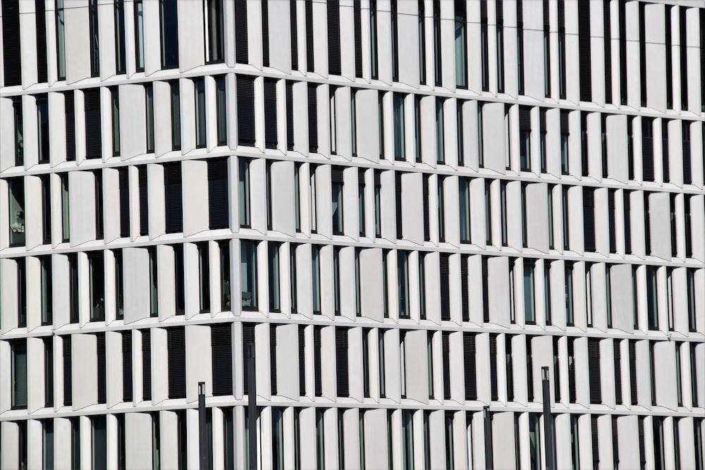 white concrete building view