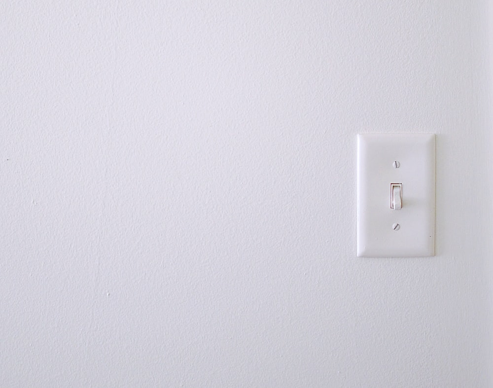 white wall switch