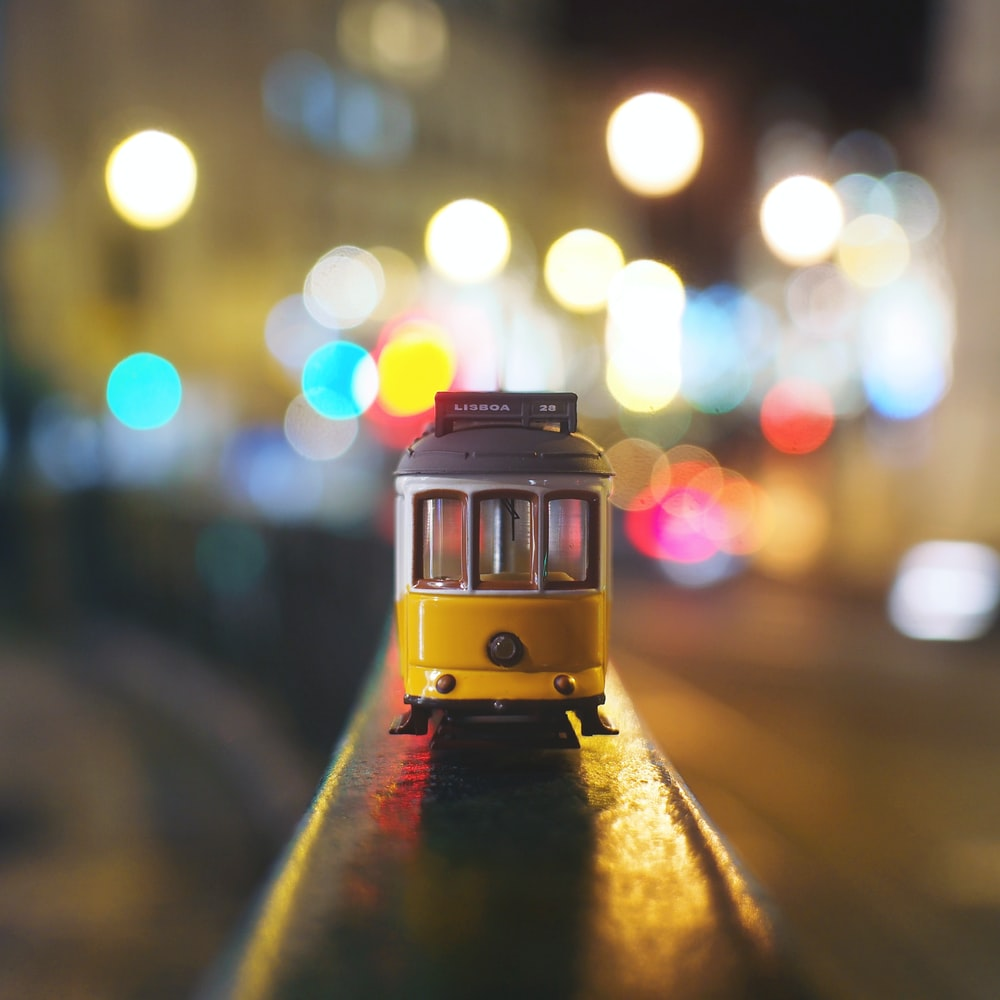 yellow and black train toy