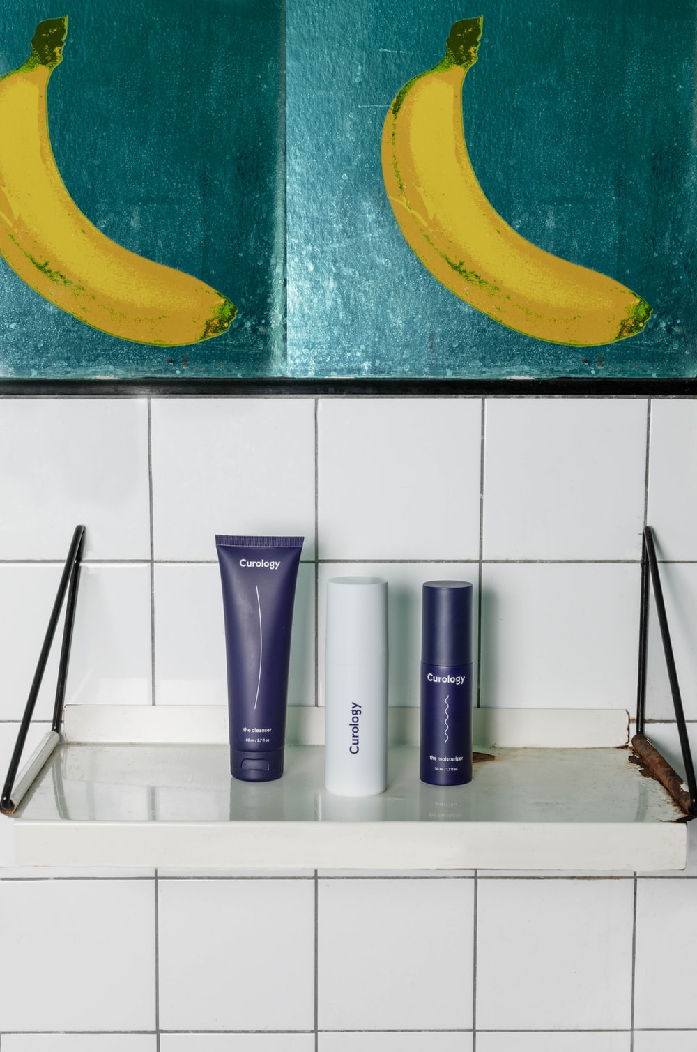 three cosmetic products