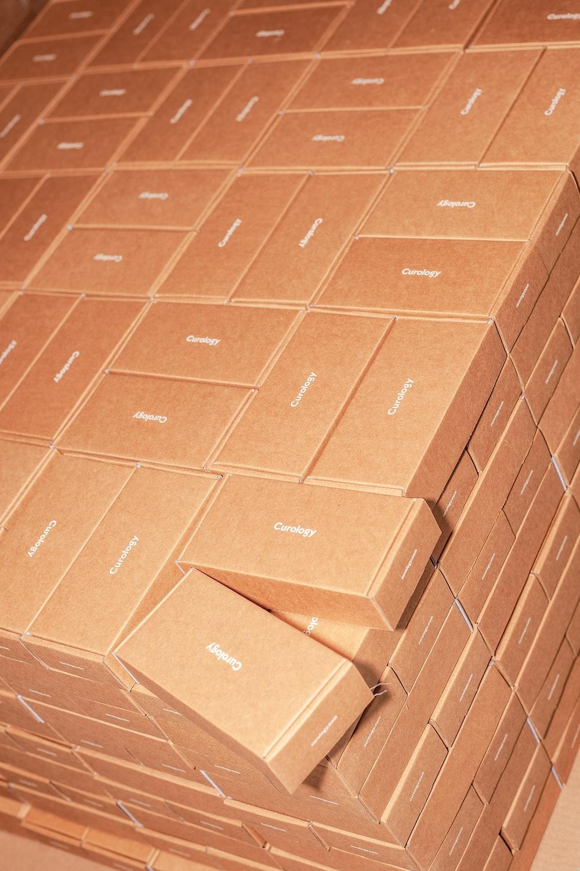 brown labeled box l