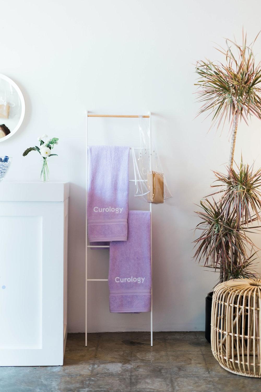 white towel rack