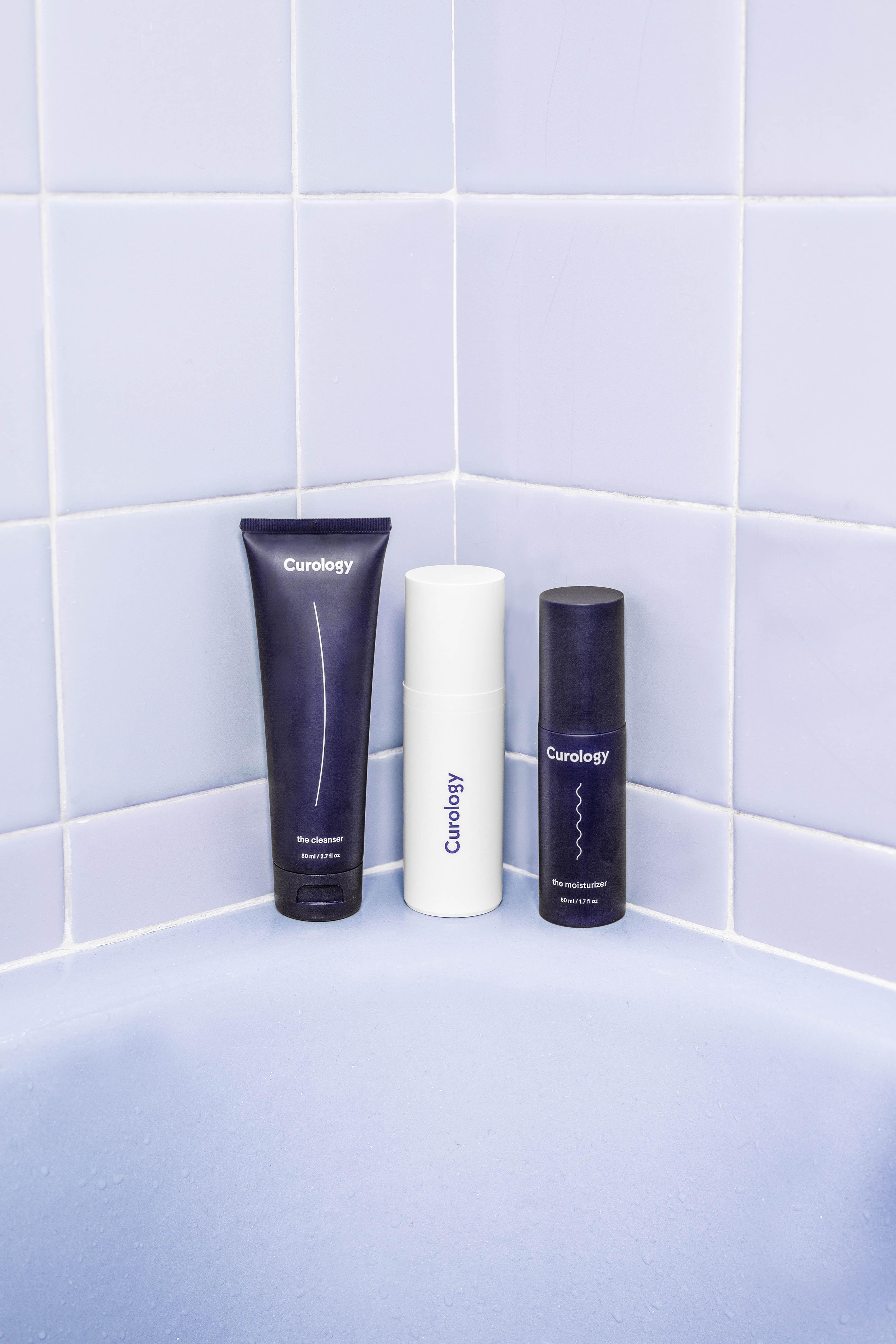 three assorted bath products