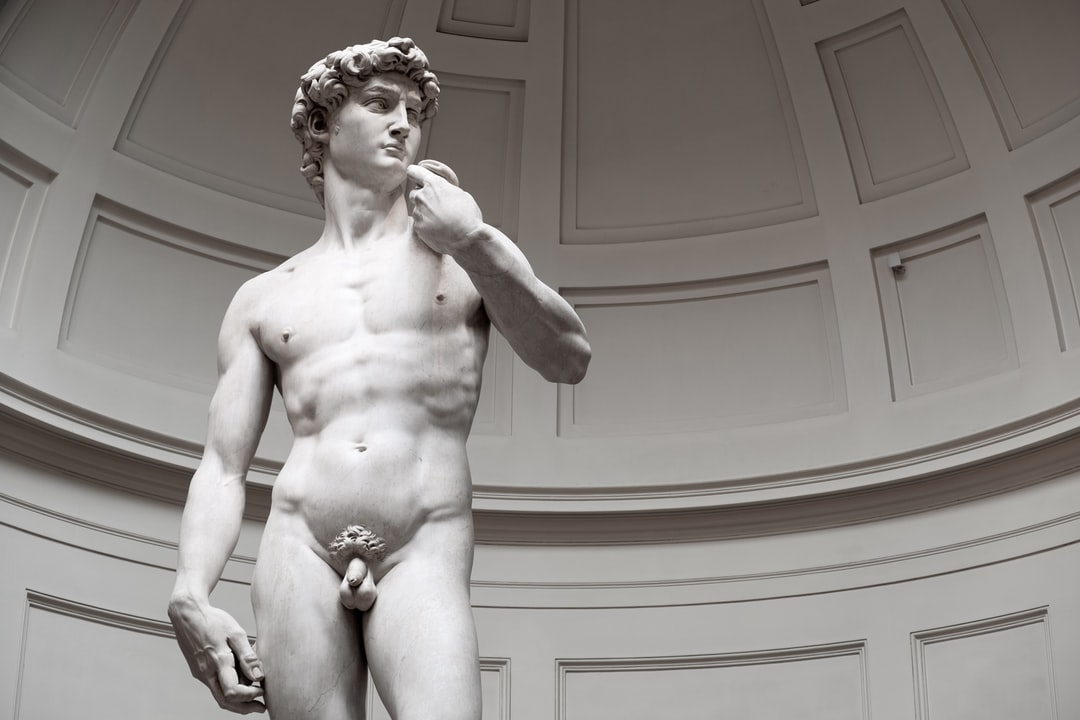 David is a masterpiece of Renaissance sculpture created in marble between 1501 and 1504 by the Italian artist Michelangelo.