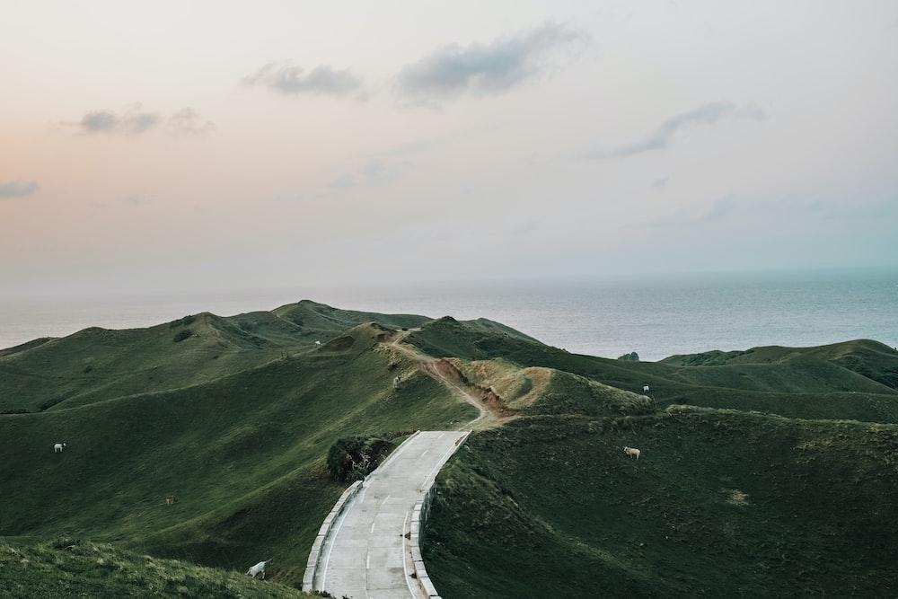 roadway ridge in nature photography