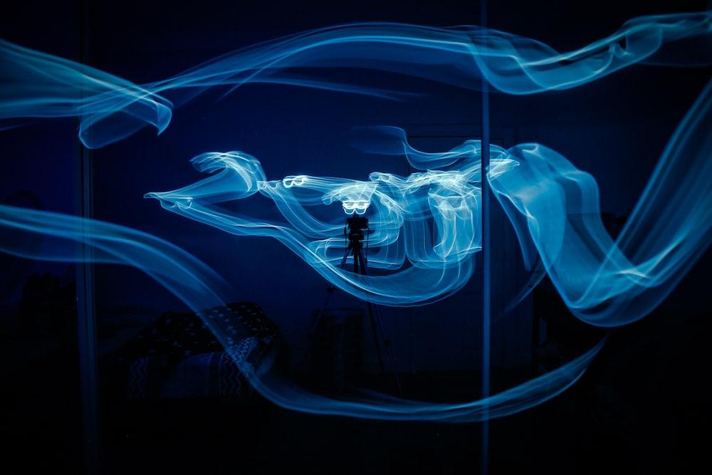 blue smoke inside room