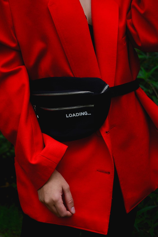 black fanny bag