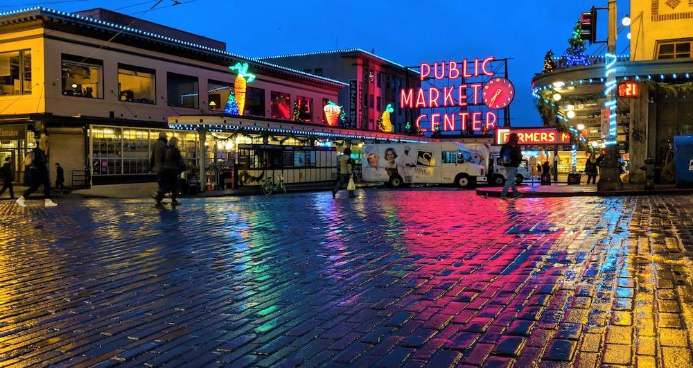 public market center signage
