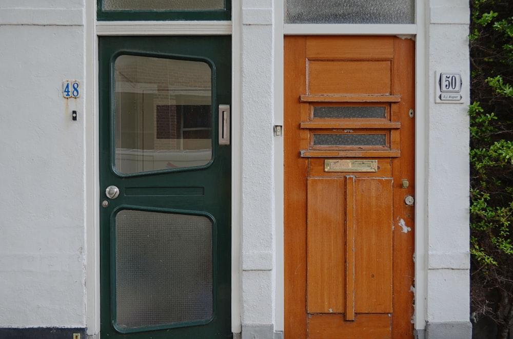 green 2-lite door