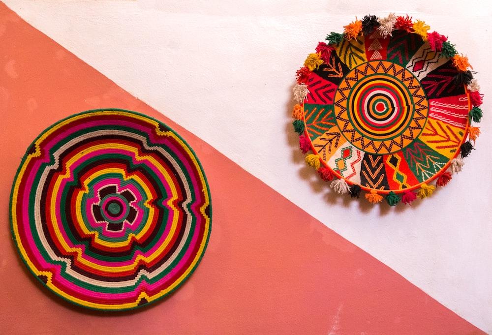 two decorative plates