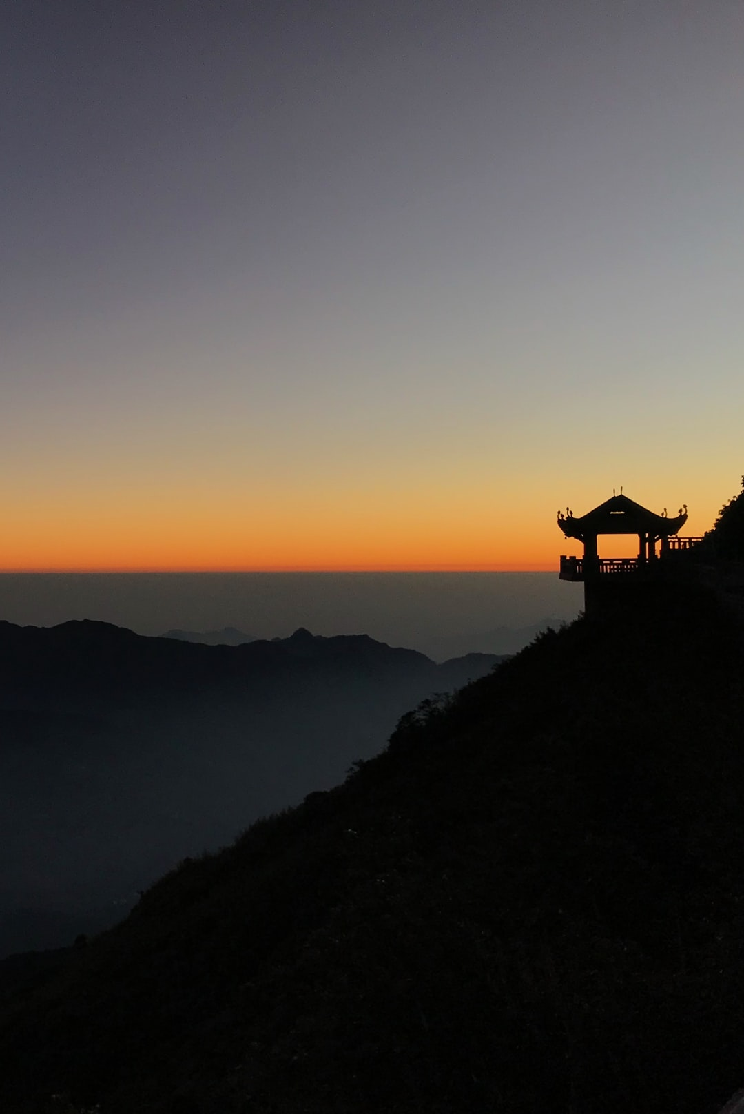 Sunrise at the summit of Mount Fansipan